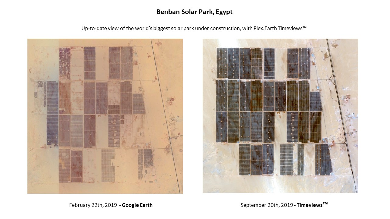 Plex.Earth Timeviews - Benban Solar Park Egypt