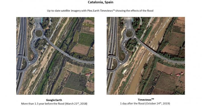 Plex.Earth Timeviews - Catalonia flood