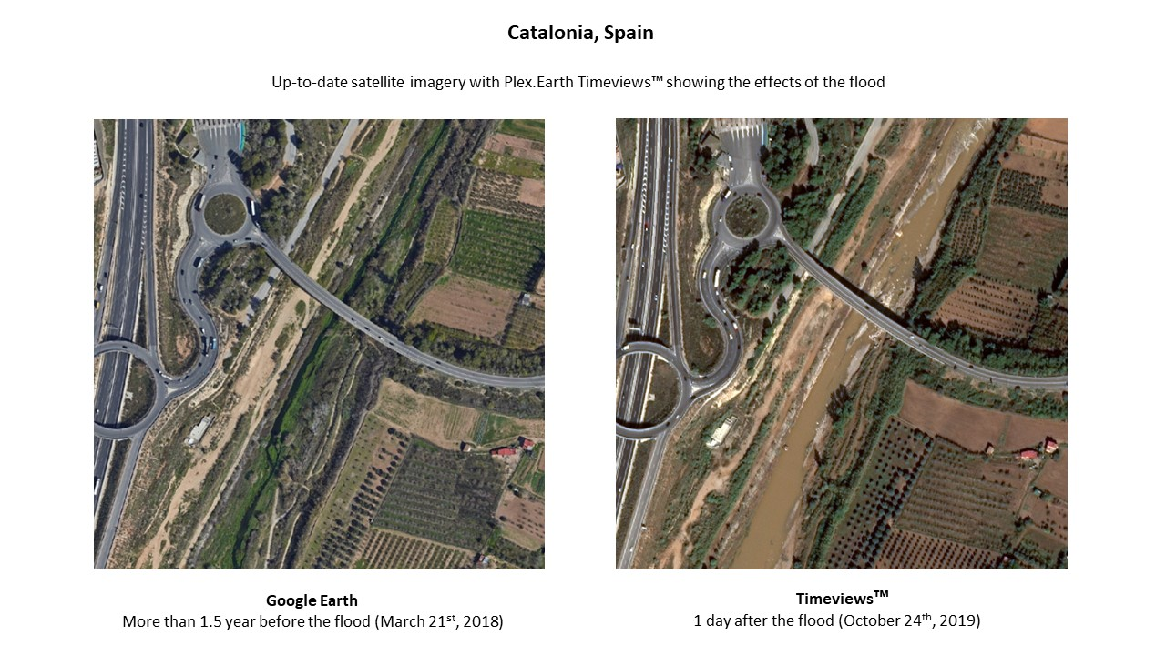 Plex.Earth Timeviews - Catalonia flood