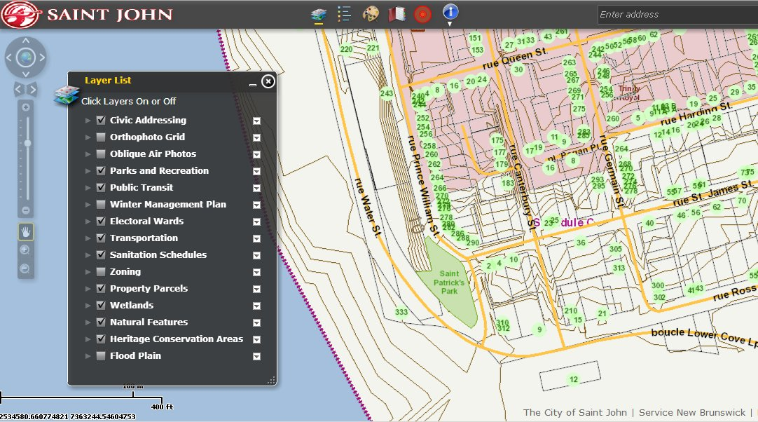 Saint John Maps - Saint John New Brunswick online maps