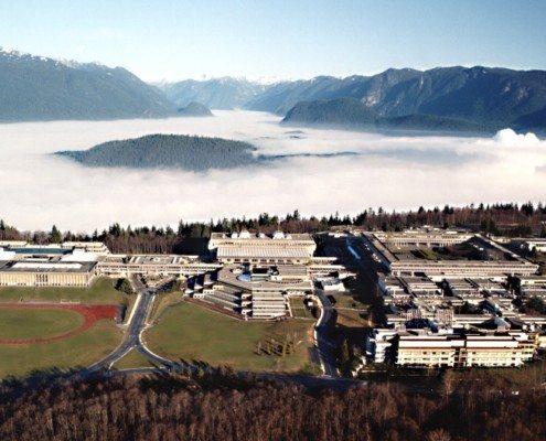 Simon Fraser University aerial