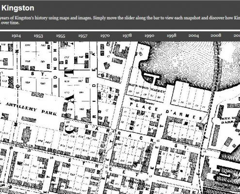Explore nearly 150 years of Kingston History using Maps and Aerial Images