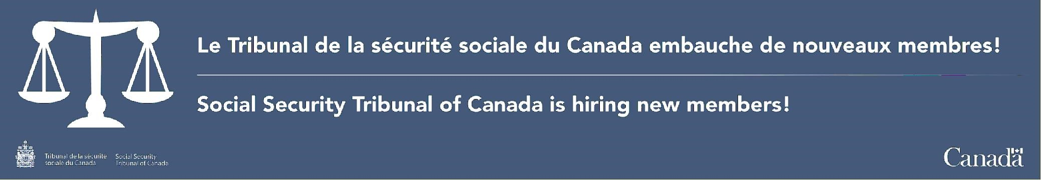 Seeking applications for Positions with the Social Security Tribunal of Canada