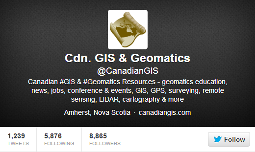 the Canadian Geomatics Twitter Community