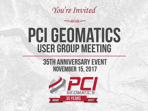 PCI Geomatics User Group Meeting - Wednesday, Nov 15, 2017