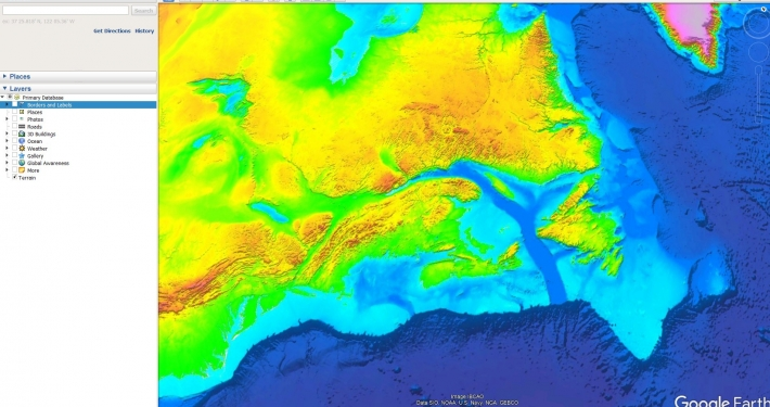 World Shaded Relief Map
