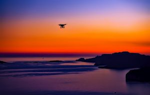 drone sunset