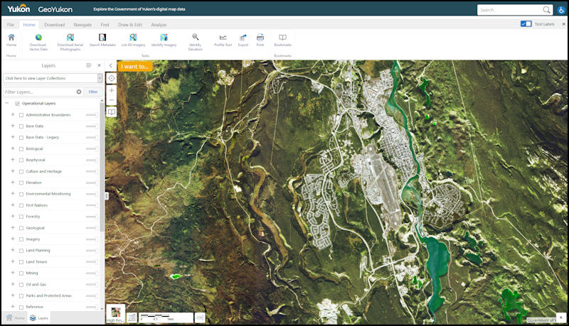 GeoYukon Map Viewer and open data