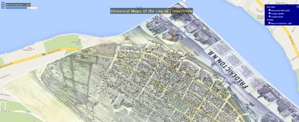 historical maps Fredericton 1