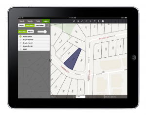 iVAULT Web GIS Mobile on IPAD