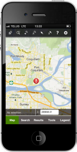 iVAULT Web GIS Mobile on iPhone