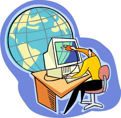 internet with globe - web mapping