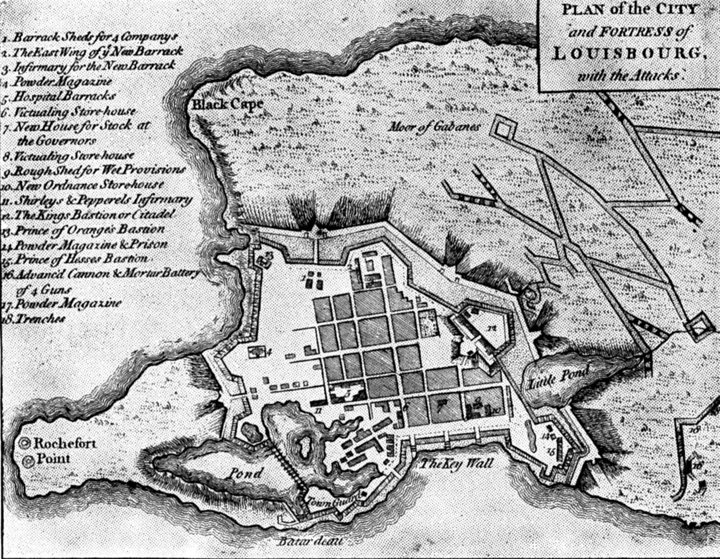 Fortress of Louisburg Maps