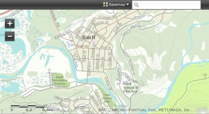 Town of Banff Online Maps