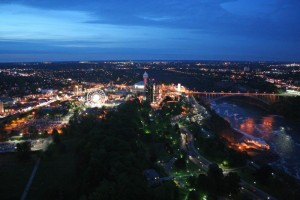 Niagara Falls Ontario oblique aerial photo