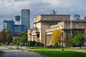 Buildings in the city of Niagara Falls Ontario Canada