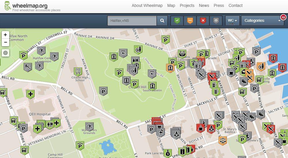 Halifax Wheelmap- Wheelchair Accessible Maps